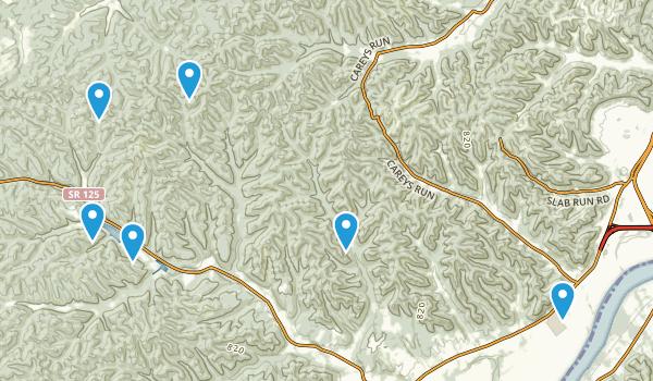 West Portsmouth, Ohio Hiking Map