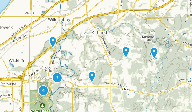 Willoughby, Ohio Bird Watching Map