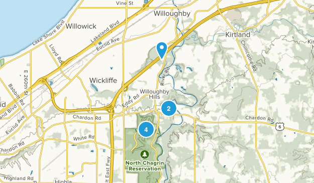 Willoughby Hills, Ohio Birding Map