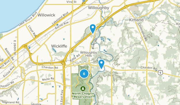 Willoughby Hills, Ohio Dogs On Leash Map
