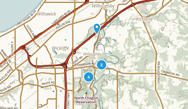 Willoughby Hills, Ohio Nature Trips Map