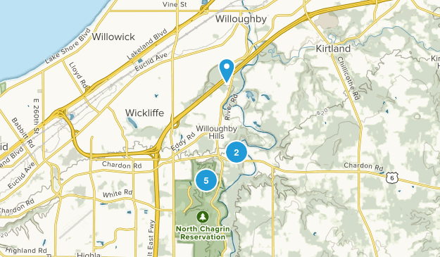 Willoughby Hills, Ohio Walking Map