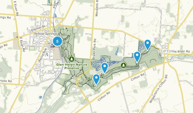 Yellow Springs, Ohio Hiking Map