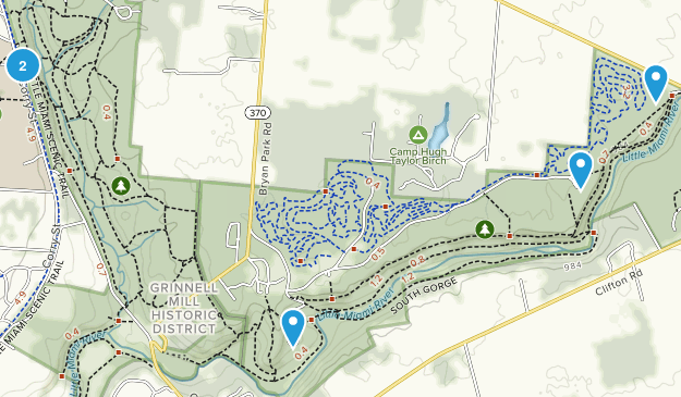 Yellow Springs, Ohio Wildlife Map