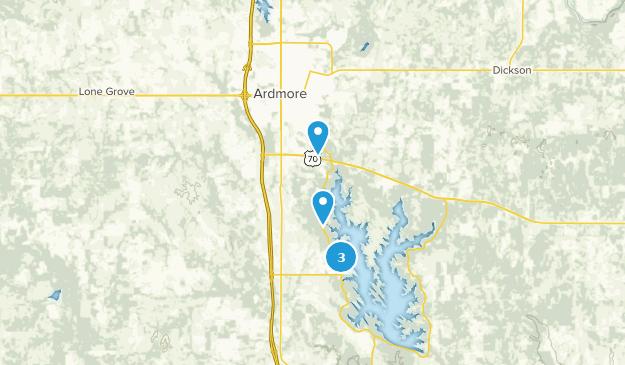 Ardmore, Oklahoma Hiking Map