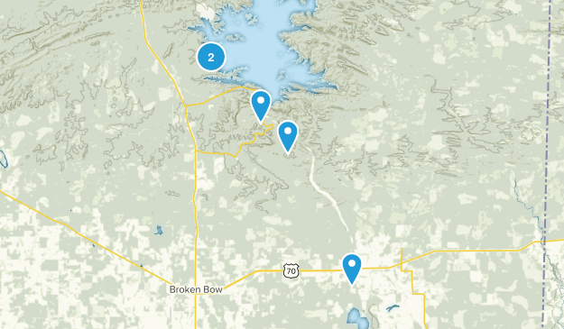 Broken Bow, Oklahoma Camping Map