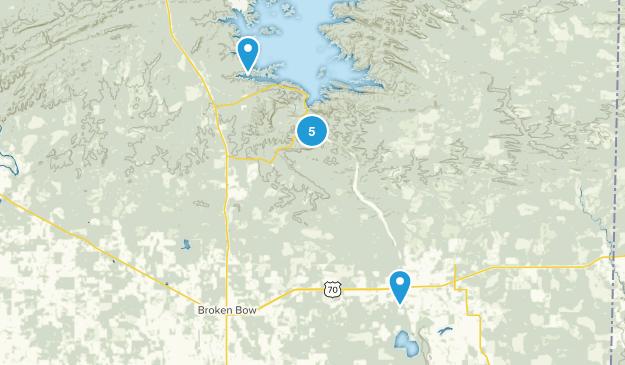 Broken Bow, Oklahoma Nature Trips Map