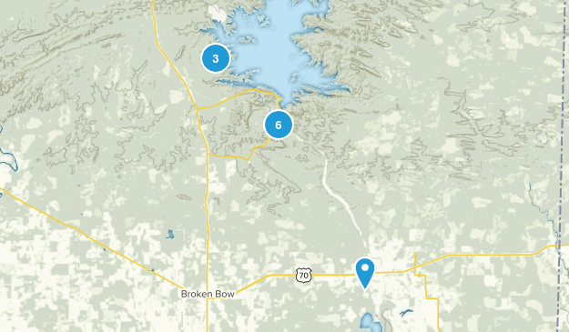 Broken Bow, Oklahoma Views Map