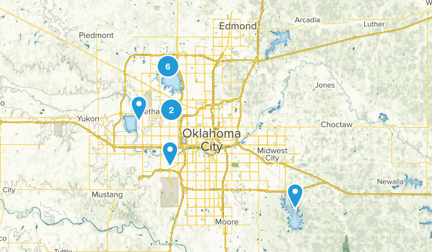 Oklahoma City, Oklahoma Hiking Map