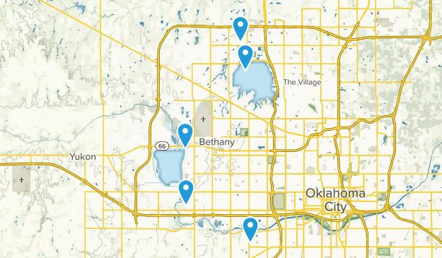 Oklahoma City, Oklahoma River Map