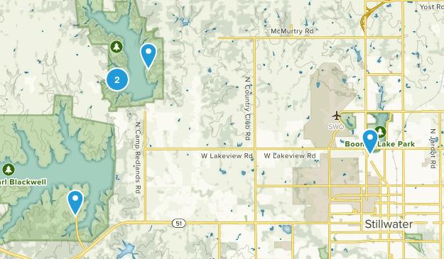 Stillwater, Oklahoma Lake Map