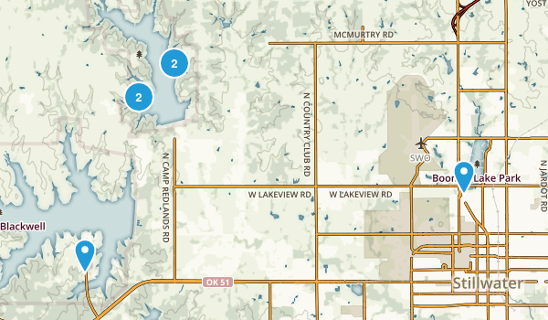 Stillwater, Oklahoma Walking Map