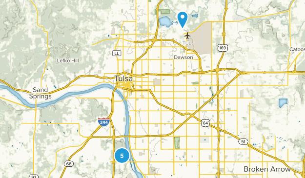 Tulsa, Oklahoma Birding Map