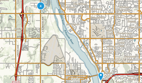 Tulsa Oklahoma Hiking Map