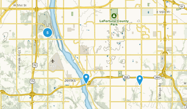Tulsa, Oklahoma Mountain Biking Map