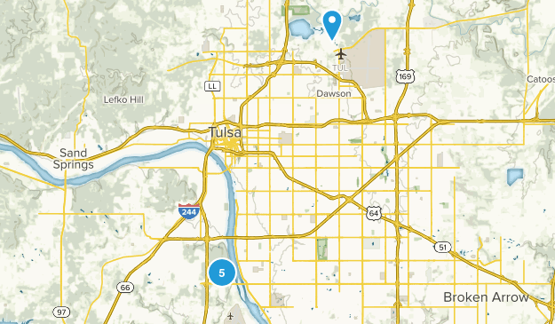 Tulsa, Oklahoma Walking Map