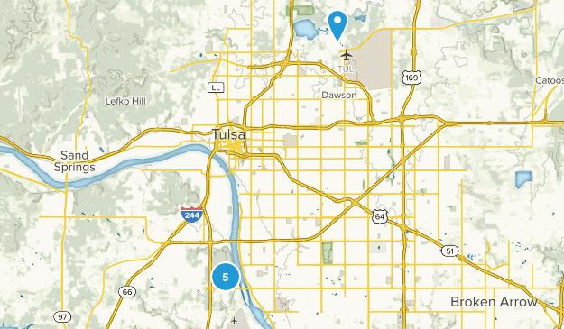 Tulsa, Oklahoma Wild Flowers Map
