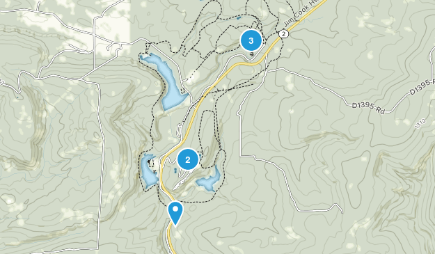 Wilburton, Oklahoma Hiking Map