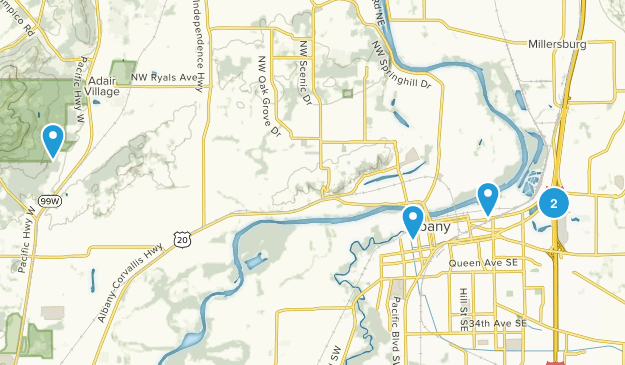 Albany, Oregon Birding Map