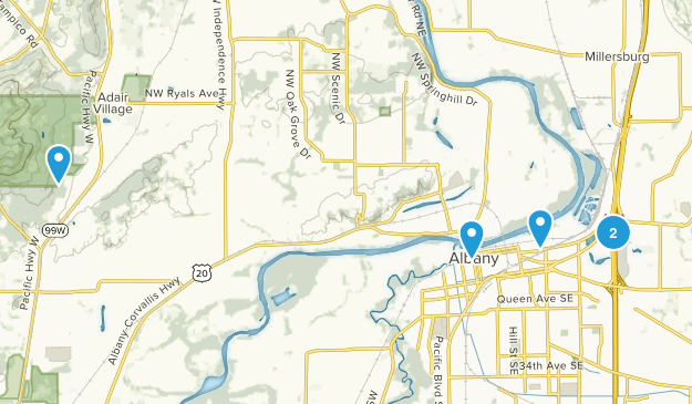 Albany, Oregon Kid Friendly Map