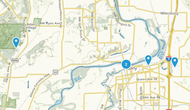 Albany, Oregon Trail Running Map