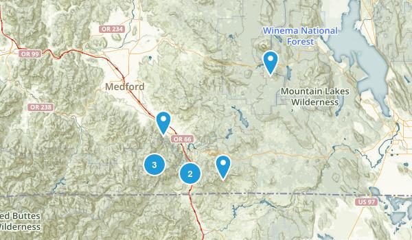Ashland, Oregon Birding Map