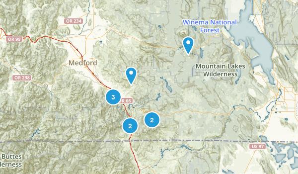 Ashland, Oregon Trail Running Map