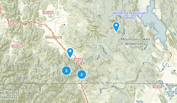 Ashland, Oregon Walking Map