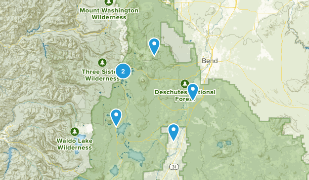 Bend, Oregon Camping Map