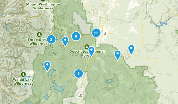 Bend, Oregon Forest Map