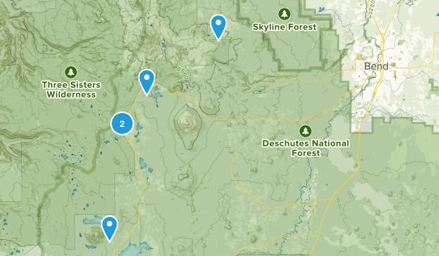 Bend, Oregon Lake Map