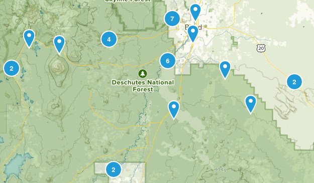 Bend, Oregon Nature Trips Map