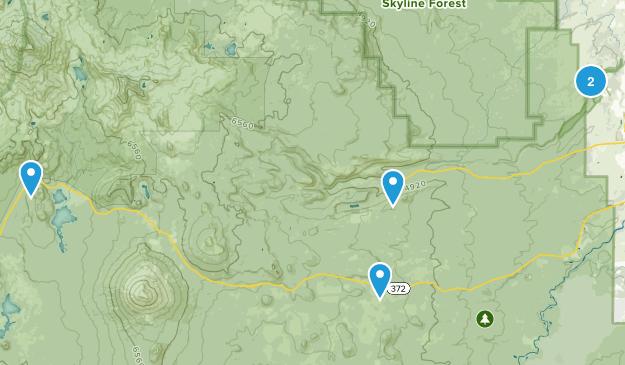 Bend, Oregon Snowshoeing Map
