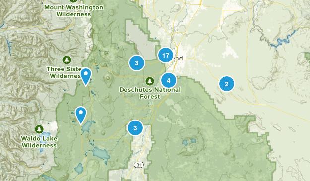 Bend, Oregon Trail Running Map