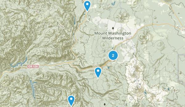 Blue River, Oregon Backpacking Map