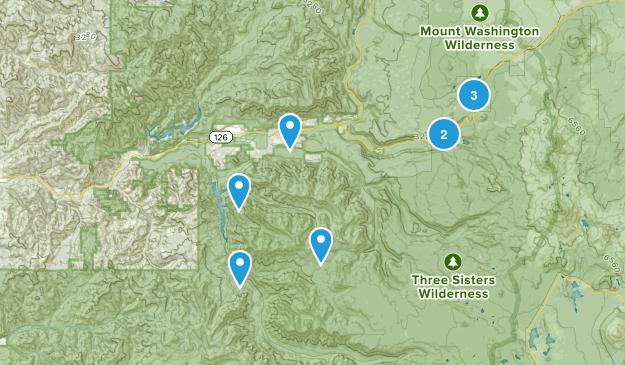 Blue River, Oregon Birding Map