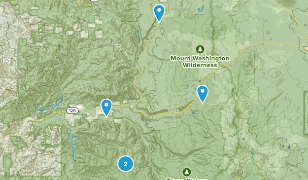 Blue River, Oregon Camping Map