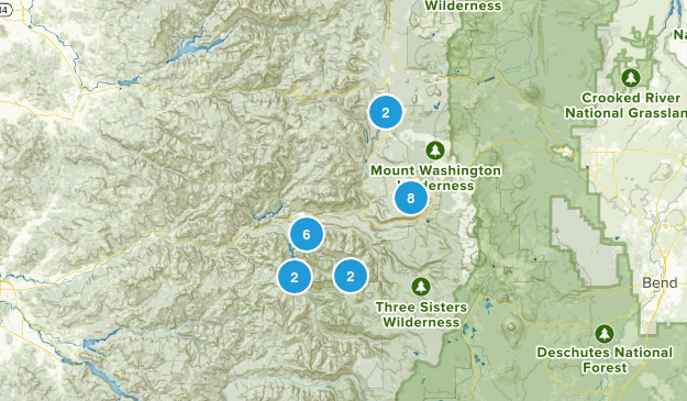 Blue River, Oregon Dogs On Leash Map