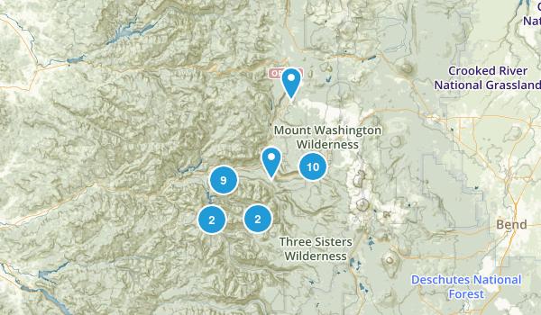 Blue River, Oregon Hiking Map