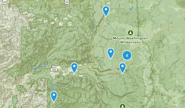 Blue River, Oregon Lake Map