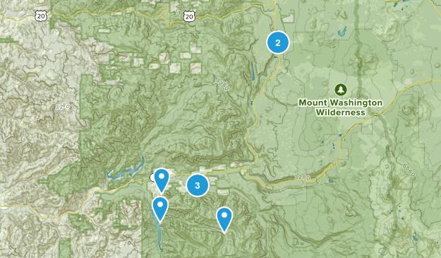 Blue River, Oregon Mountain Biking Map