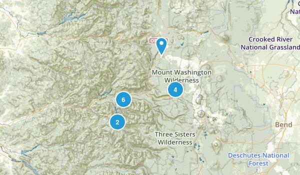 Blue River, Oregon Walking Map