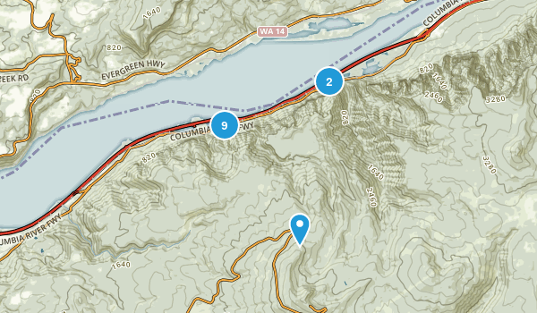 Bridal Veil, Oregon Dogs On Leash Map