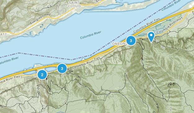 Bridal Veil, Oregon River Map