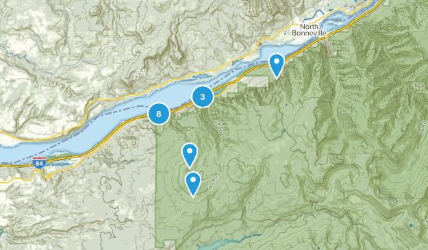 Bridal Veil, Oregon Walking Map
