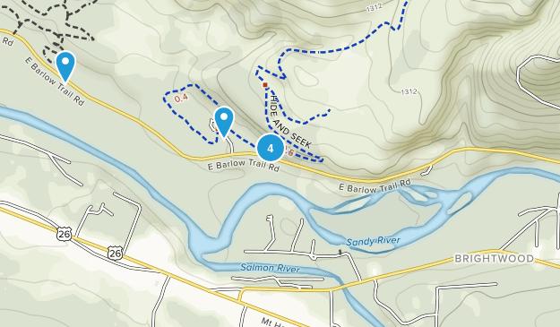Brightwood, Oregon Hiking Map