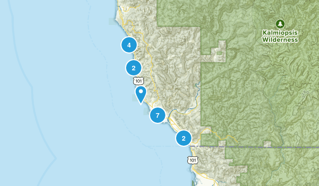 Brookings, Oregon Beach Map