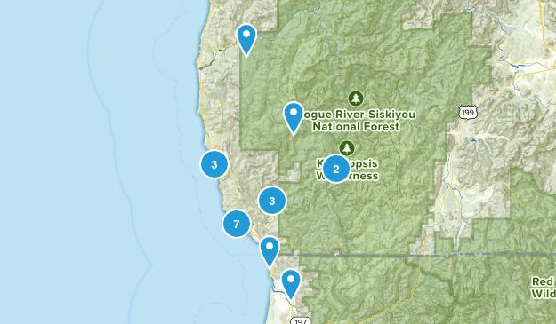 Brookings, Oregon Dogs On Leash Map