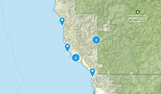 Brookings, Oregon Fishing Map