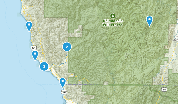 Brookings, Oregon Fishing Map